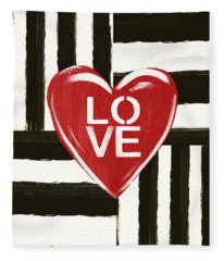 Modern Love- Art By Linda Woods Fleece Blanket