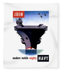 Modern Mobile Mighty Navy Fleece Blanket
