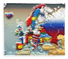 Modern Portrait Of Modern Europe - 3d Fleece Blanket