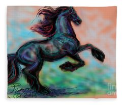 Modern Royal Friesian Fleece Blanket