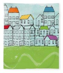 Modern Village Fleece Blanket