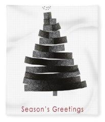 Modern Winter Tree- Season's Greetings Art By Linda Woods Fleece Blanket