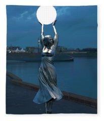 Modernist Streetlight 04 Fleece Blanket