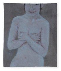 Modest Girl Fleece Blanket