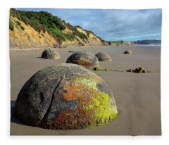 Moeraki Boulders Fleece Blanket