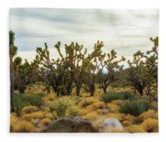 Mohave Joshua Trees Forest Fleece Blanket