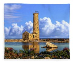 Mohawk Island Lighthouse Fleece Blanket