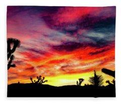 Mojave Sunset Fleece Blanket