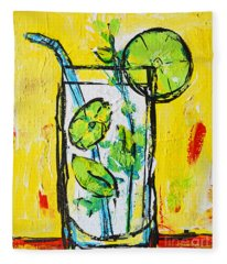 Mojito - Latin Tropical Drink Modern Art Fleece Blanket