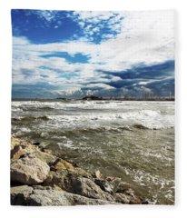 Mole Stones  In Rimini Fleece Blanket