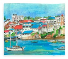 Mombasa Town Fleece Blanket