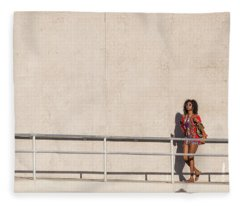 Fleece Blanket featuring the photograph Moment In The Sun by Alex Lapidus