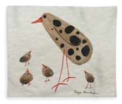 Momma Bird Fleece Blanket