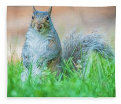 Momma Squirrel Fleece Blanket