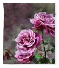 Moms Roses Fleece Blanket