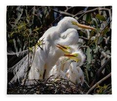 Mom's Watchful Eye Fleece Blanket