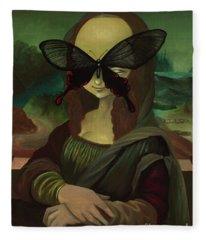 Mona Lisa? Fleece Blanket