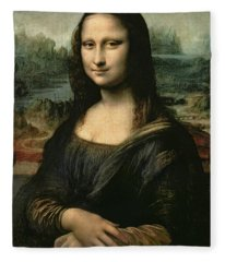 Mona Lisa Fleece Blanket