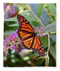 Monarch Butterfly 2 Fleece Blanket