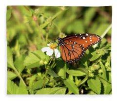 Monarch Butterfly Fleece Blanket