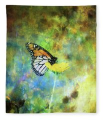 Monarch In Azure And Gold 5647 Idp_2 Fleece Blanket