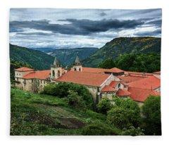 Monastery Of Santo Estevo De Ribas Del Sil Fleece Blanket