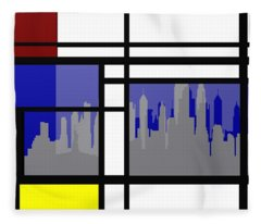 Mondrian In N Y Fleece Blanket
