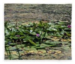 Monet At Giverny - 2 Fleece Blanket