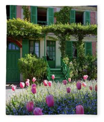 Monet House Fleece Blanket