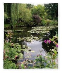 Monets Garden, Giverny, France Fleece Blanket