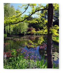 Monet's Pond Fleece Blanket