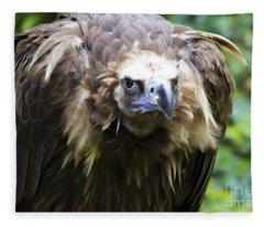 Monk Vulture 3 Fleece Blanket