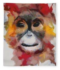 Monkey Splat Fleece Blanket