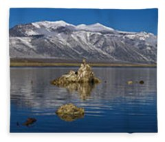Mono Lake Pano Fleece Blanket