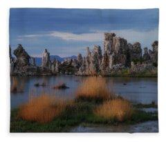 Mono Lake Tufas Fleece Blanket