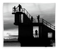 Mono Sunset Blackrock  Fleece Blanket