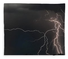 Monsoon Lighting Storm Fleece Blanket