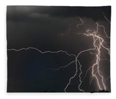 Monsoon Lighting Storm Fleece Blanket