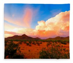 Monsoon Storm Sunset Fleece Blanket