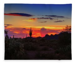 Fleece Blanket featuring the photograph Monsoon Sunset by Rick Furmanek
