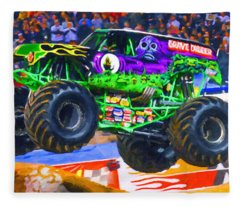Monster Jam Grave Digger Fleece Blanket