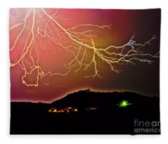 Monster Lightning By Michael Tidwell Fleece Blanket