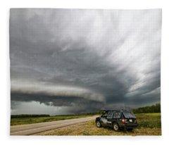 Monster Storm Near Yorkton Sk Fleece Blanket