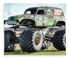 Monster Truck 4 Fleece Blanket