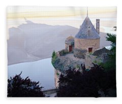 Mont Saint Michel In The Shadows Fleece Blanket