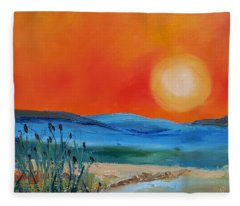 Montana Firery Sunset             49 Fleece Blanket