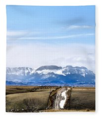 Montana Scenery One Fleece Blanket