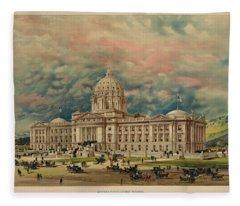 Montana State Capitol Fleece Blanket