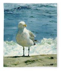 Montauk Gull Fleece Blanket