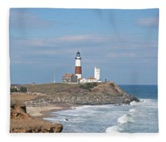 Montauk Lighthouse View From Camp Hero Fleece Blanket